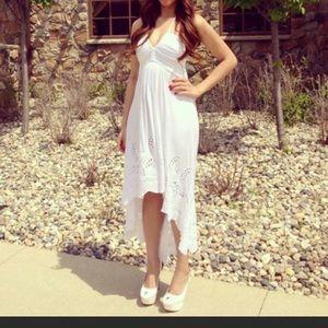 White Halter Sky Dress